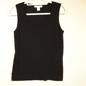 August Silk Large Black Tank Silk Blend Washable